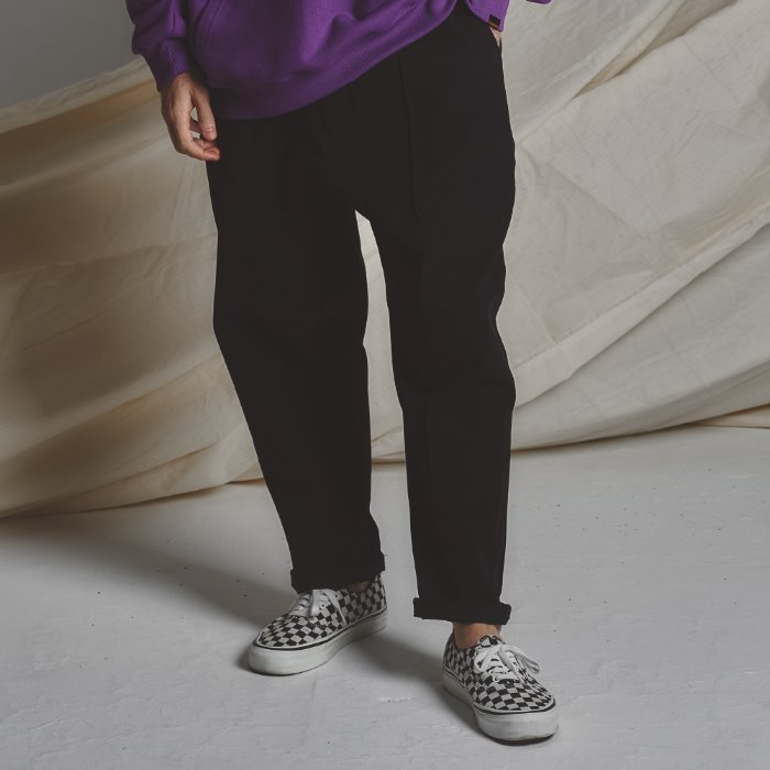 STG Pintuck Wide Pants _ BK
