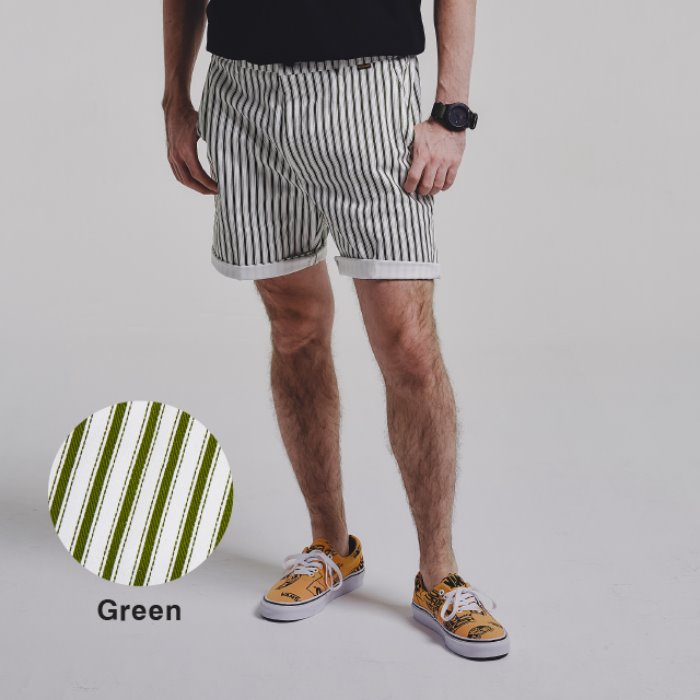 STRIPE shorts_GREEN